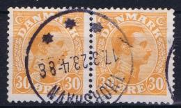 FÄRÖER Forerunner Mi 122 Pair Thorshavn  1923 - Islas Faeroes