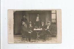 LE MARTINET SUR AUZONNET (GARD) ? CARTE PHOTO CAFE AVEC CLIENTS SUR LA TERRASSE 1918 - Francia
