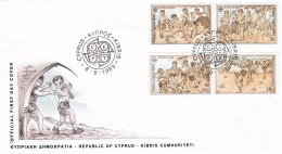 Cyprus 1989 FDC Europa CEPT (T18-35) - 1989