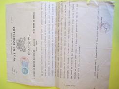 Etat Civil/Extrait Acte Mariage 1939/  BORDEAUX/ Gironde/ Labroue/Caudéran/Poleshaieff/Pétrograd/Russie/ 1954      AEC65 - Unclassified