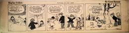 STRISCE ORIGINALI COMIC STRIP BY GENE BYRNES REG'LAR FELLERS - Books, Magazines, Comics