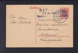 Dt. Reich Besetzung Rumänien Romania GSK 1917 Bukarest Nach Stuttgart - Besetzungen 1914-18