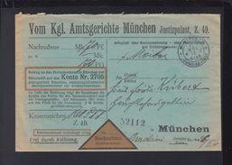 Bayern Gerichtsbrief München Justizpalast 1913 - Bayern (Baviera)