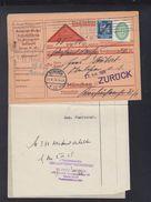 Dt. Reich Nachnahme-PK München 1928 Zurück - Oficial