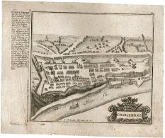 Charleroi - Charlemont Gravure Par Bodenehr Gabriel 1725 - Cartes