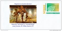 "SPAIN, 2017 Stegosaurus Armatus Dinosaur Meaning ""roof Lizard"" Or ""covered Lizard""  Late Jurassic, 155–150Ma/Marsh - Stamps"