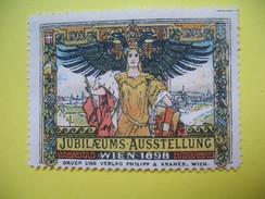 Vignette   ; Jubilaeums Ausstellung Wien 1898 - Erinnophilie