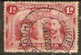 British South Africa Company. Rhodesia1910 SG 125 1d Wankie Postmark Fine Used - Rhodésie Du Sud (...-1964)
