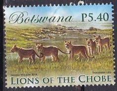 Botswana, 2014 - 5,40p Lions - Nr.954 Usato° - Botswana (1966-...)