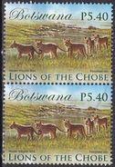 Botswana, 2014 - 5,40p Lions, Coppia - Nr.954 Usato° $2,80 - Botswana (1966-...)