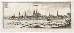 Ieper - Ipre - Ipern Gravure Door Merian Mattheus 1650 - Autres