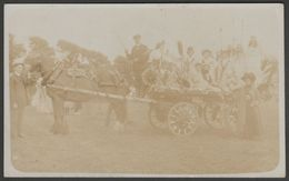 Horse And Carnival Float, Redruth, Cornwall, C.1905-10 - RP Postcard - Other