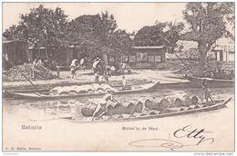 Nederlands Indie Batavia 1906 Rivier In De Stad Dutch East Indies Jakarta Indonesia Indonesie - Indonésie