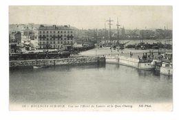 CPA 62 BOULOGNE-SUR-MER VUE SUR L'HOTEL DU LOUVRE ET LE QUAI CHANZY - Boulogne Sur Mer