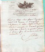 LAS.LOUIS JOSEPH St.HILAIRE,général Divisionnaire,commandant La 15e Division Militaire.6 Ventose An 10.HORNOY. - Autographes