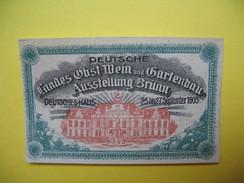 Vignette   ; Deutsche Landes Obst Wien Und Bartenbau Ausstellung Brunn 1905 - Erinnophilie