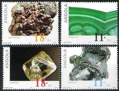 ANGOLA, 2001, MINERALS, R#1052-55, YV#1515D-G, MNH - Angola