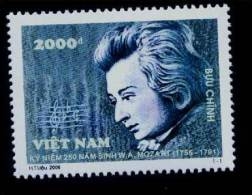 Vietnam Viet Nam MNH Perf Withdrawn Stamp 2006 : 250th Birth Anniversary Of Mozart / Music (Ms946) - Viêt-Nam