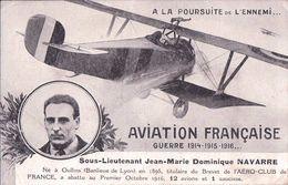 Aviation Française, Pilote, Sous-Lieutenant Jean-Marie Dominique NAVARRE (2.12.1916) Plis D'angles - Guerre 1914-18
