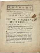 Bultetin De Lois De L'armée Du Jura 1793 - Documentos Antiguos