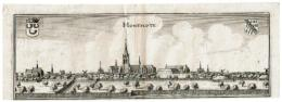 Hondschote - Hontscote Gravure Van Merian 1650 - Kaarten