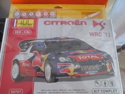HELLER MAQUETTE PLASTIQUE A MONTER 1/24e CITRONEN DS WRC 2012 Complète Non Commencée , Avec Notice Pinceau Peinture - Voitures