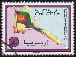 1994 - Eritrean Flag And Map - 5Birr - Yt:ER 248 - Used - Eritrea