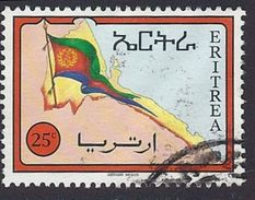 1994 - Eritrean Flag And Map  - Yt:ER 241 - Used - Eritrea