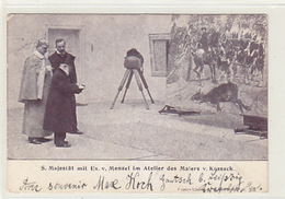 S.Majestät Mit Ex.v.Menzel Im Atelier Des Malers V. Kossack - 1901      (170618) - Persönlichkeiten