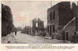 FLOING 29 Aout 1914-au Dos Paroles De PE CHE DE CROUY - Autres Communes