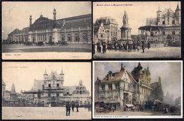 9 X MECHELEN - MALINES - Gare - Ruelle - Musée Etc --- 3 Scans - Mechelen