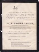 GRAIDE Université Catholique De Louvain Nicolas-Joseph LAFORET Recteur 1823-1872 Louvain Leuven Famille CLARINVAL - Obituary Notices