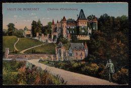 SALUT DE MORESNET - LE CHATEAU D'EULENBOURG  - CHASSEUR AVEC FUSIL - HUNTER WITH GUN - Plombières