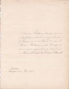COURTRAI BRUGES Mariage 1848 De BETHUNE Et Emilie Van OUTRYVE D'YDEWALLE Les 2 Faire-parts échangés - Mariage