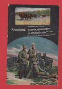 Allemagne  --  Artillerielied  --  Cachet Riesa  -- 26/2/1916 - Patrióticos