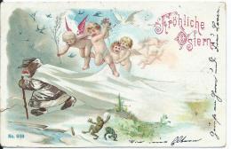 AK 0707  Fröhliche Ostern  Mit Engeln Um 1901 - Ostern