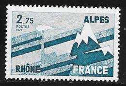 TIMBRE N° 1919  -  FRANCE -  RHONE ALPES   -  NEUF   -  1977 - France