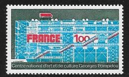 TIMBRE N° 1922  -  FRANCE -  CENTRE POMPIDOU   -  NEUF   -  1977 - France