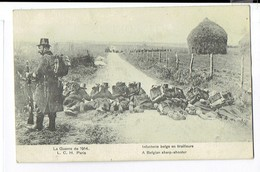 SOLD 050 - D5  - La Guerre De 1914 Infanterie Belge En Tirailleurs - Manoeuvres