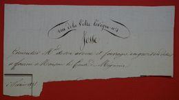 En-tête De Facture Manuscrite - JOSSE, Grainetier, Marchand De Son Avoine Et Fourrages - France