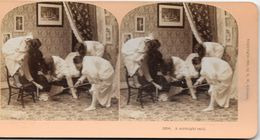 S0580 - Photo B.W. KILBURN - LITTLETON - ETATS-UNIS - Un Raid De Minuit - Stereoscopio
