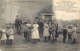 -themes Div- Ref R961- Folklore - Enfants - Danses -danse - Scenes Berrichonnes - Berry - La Bourrée  Carte Bon Etat - - Danses