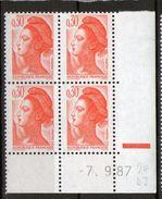 N° 2182**_RE_7/9/87_Dernier Jour Du 24°  Tirage_ - 1980-1989