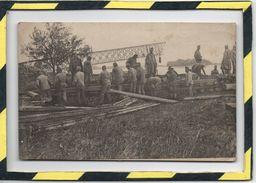 PRISONNIERS SERBES - CONSTRUCTION D'UN PONT. CIRCULEE EN 1919 - Serbien