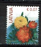 Latvia Letland Postzegel Met Bloemen / Fleurs / Flowers - Lettonie