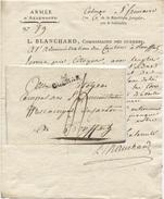 66 COLMAR An 6 Pour Rouffach 26 X 8.5 Mm Indice 11 L; Blanchard Commissaire Des Guerres Armée D'Allemagne Brisack - 1801-1848: Précurseurs XIX