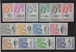 TRISTAN Da CUNHA - YVERT N°28/41 * MH - COTE = 140 EUR. - POISSONS - Tristan Da Cunha