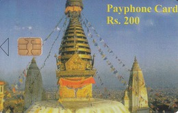 NEPAL - Temple, Nepal Telecom Phonecard,  R$ 200, Tirage 20000,Sample No CN - Nepal