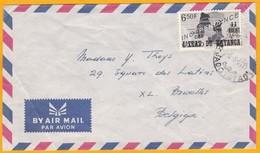 1961 - Enveloppe Par Avion De Jadotville, KATANGA Indépendant , Congo Vers Bruxelles, Belgique - République Du Congo (1960-64)