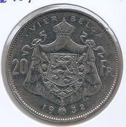 ALBERT I * 20 Frank / 4 Belga 1932 Vlaams  Pos A * Z.Fraai * Nr 9441 - 11. 20 Francs & 4 Belgas